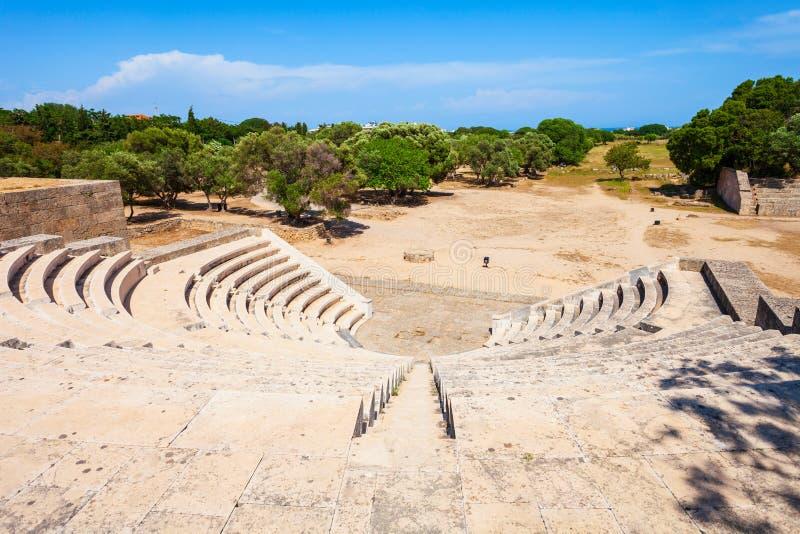 Стадион акрополя старый в Родосе стоковые изображения rf