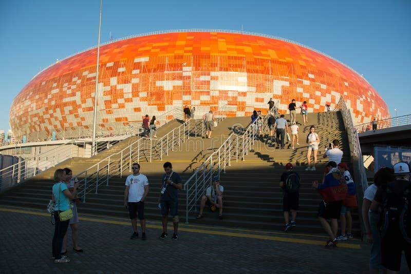 Стадион арены Мордовии стоковая фотография rf