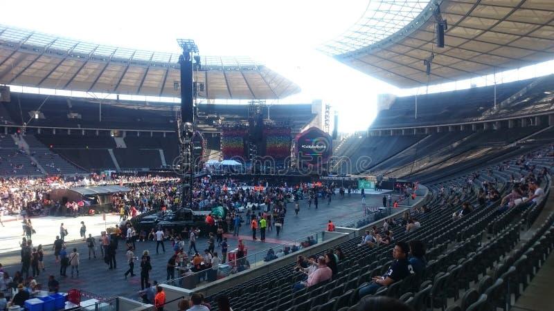 Стадион Олимпии в Берлине перед концертом Coldplay стоковое фото