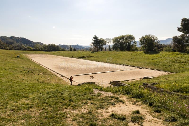 Стадион Олимпии, Греция стоковое изображение rf