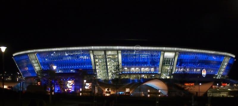 стадион отверстия donetsk donbass арены стоковые изображения rf