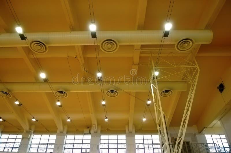 стадион потолка стоковое изображение rf