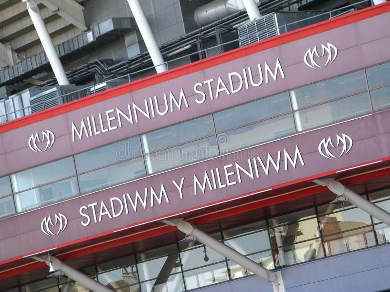 Стадион тысячелетия резвится комплекс в Кардиффе стоковые изображения