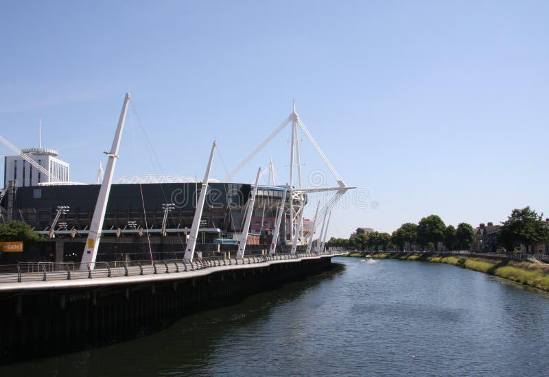 стадион тысячелетия cardiff стоковые изображения