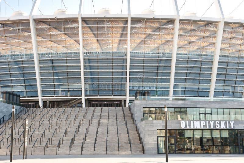 стадион Украина kiev евро 2012 olympisky стоковые фото