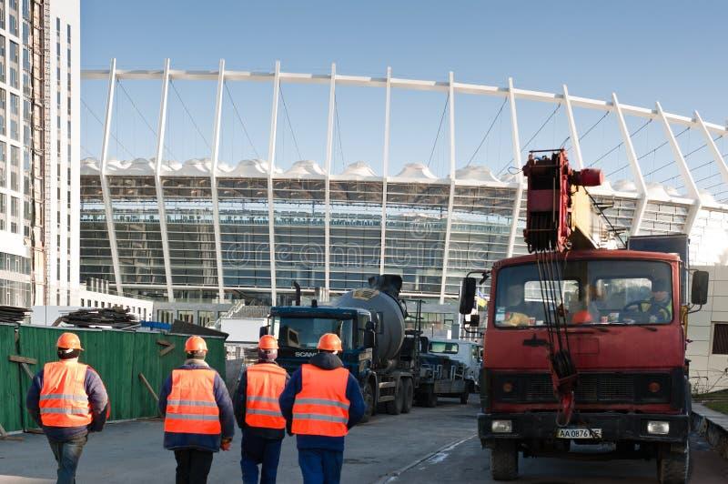 стадион Украина kiev евро 2012 olympisky стоковое фото rf