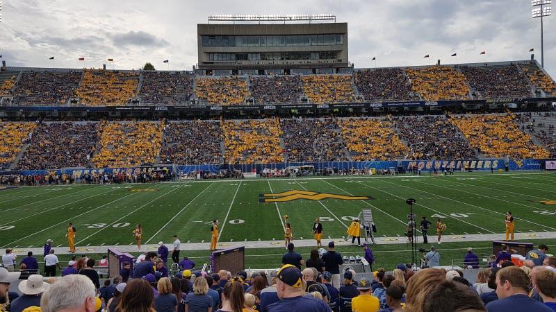 Стадион университета Западной Вирджинии стоковое изображение