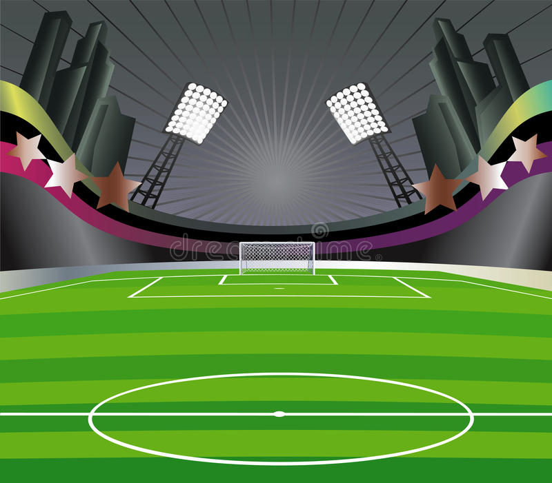 стадион футбола поля иллюстрация штока