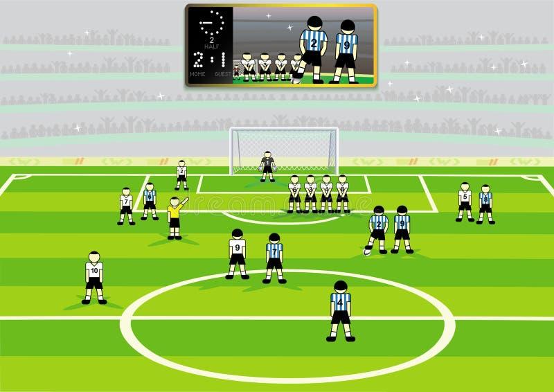 стадион футбола иллюстрация штока