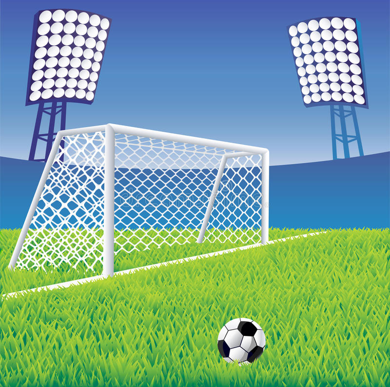 стадион футбола иллюстрация вектора