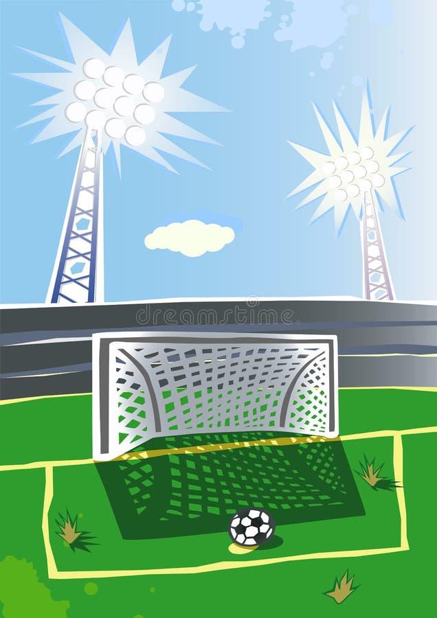 Стадион футбола. бесплатная иллюстрация