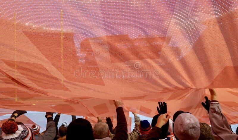 Стадион энергии вентиляторов ` Cleveland Browns вначале стоковое фото rf