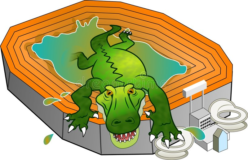 стадион gator иллюстрация штока