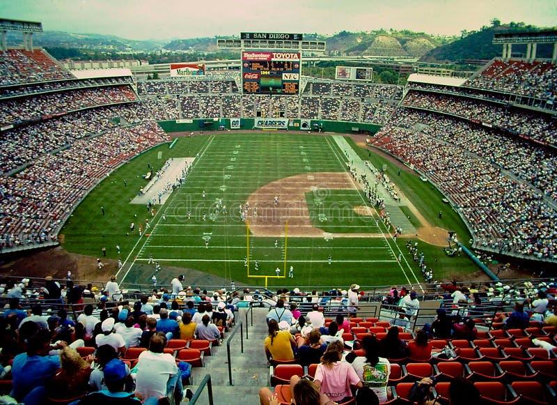 Стадион Jack Murphy, Сан-Диего, CA стоковые фотографии rf
