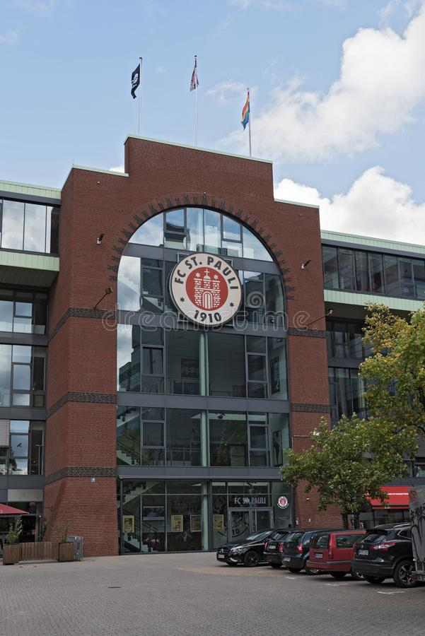 Стадион Millerntor St Pauli FC в районе St Pauli Hamburgs стоковая фотография