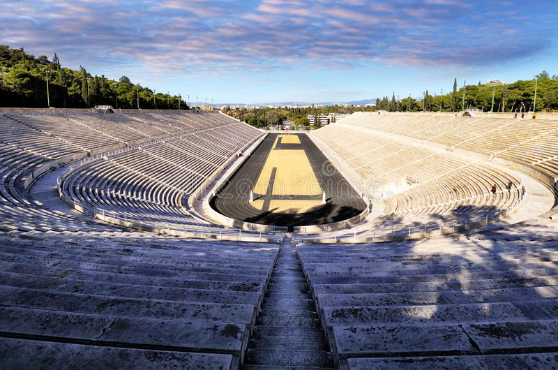 Стадион Panathenaic - Kallimarmaro multi стадион цели в Афина, Греции стоковая фотография