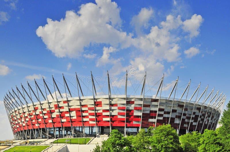 стадион warsaw евро 2012 национальный готовый стоковое изображение