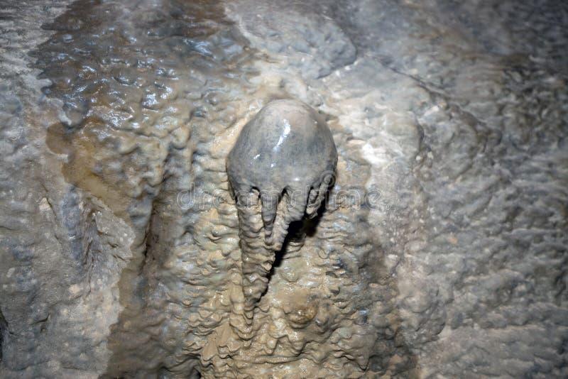 Сталактитное мороженое в пещере Белламар Матанзас, Куба стоковая фотография