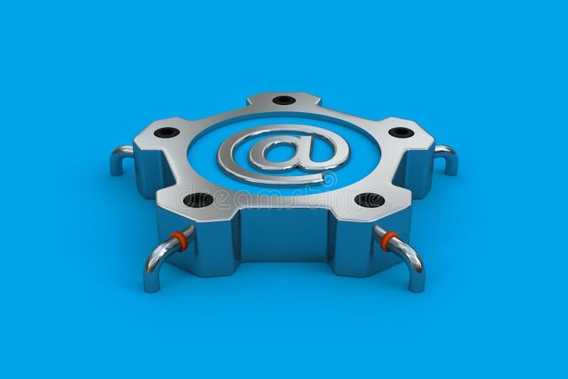 Стальная электронная почта стоковые изображения