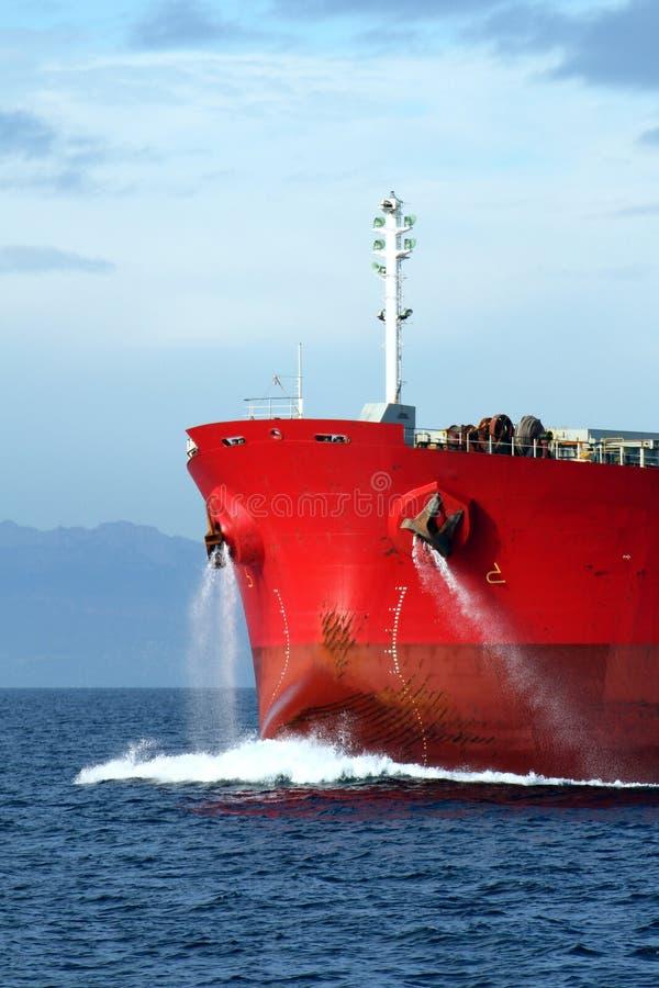 Стальной шарик im смычок сосуда судно-сухогруза стоковые фото