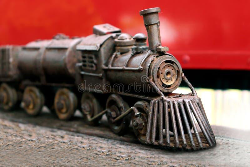 Стальные игрушки поезда для детей, поезда забавляются Collectibles стоковая фотография rf