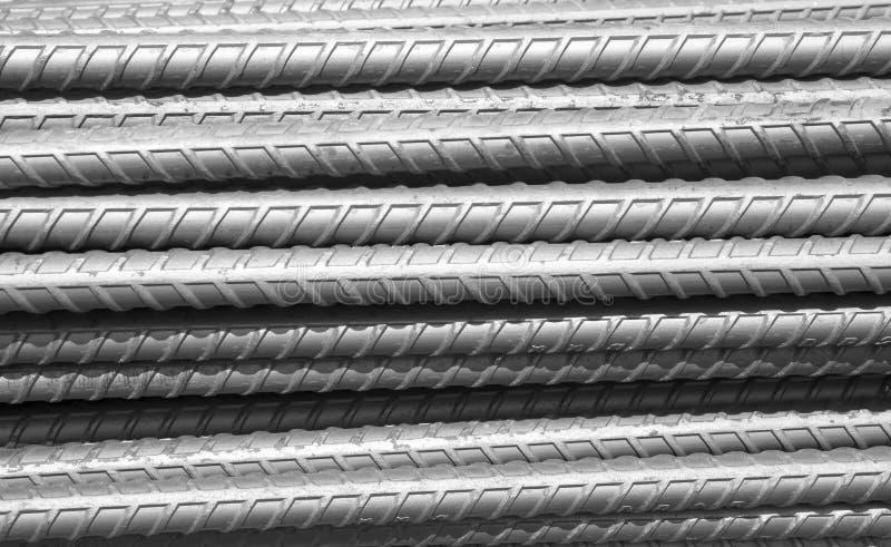 Стальные штанги бары консервируют использованный для усиливают бетон стоковая фотография