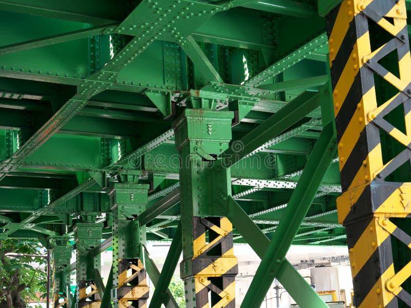 Стал-рамки под железнодорожным мостом в Токио стоковое изображение
