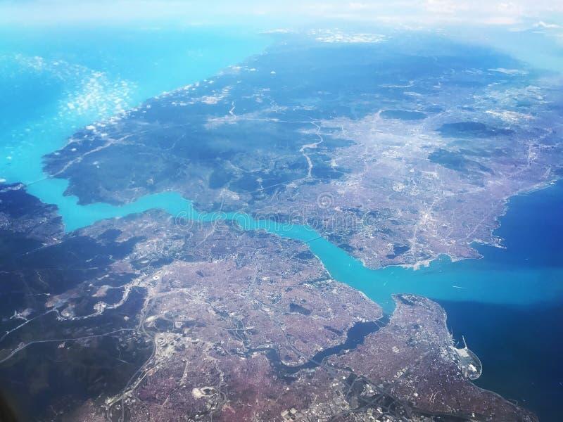 Стамбул и Bosphorus стоковые изображения rf