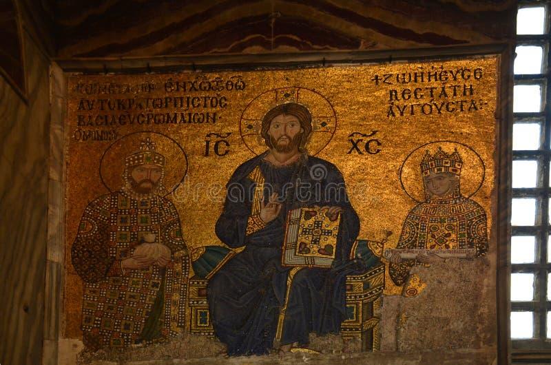 СТАМБУЛ, Турция - 10-ое мая 2018: богато христианская мозаика мечети Hagia Софии стоковое фото