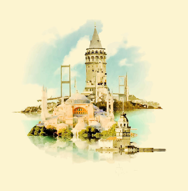 Стамбул иллюстрация вектора