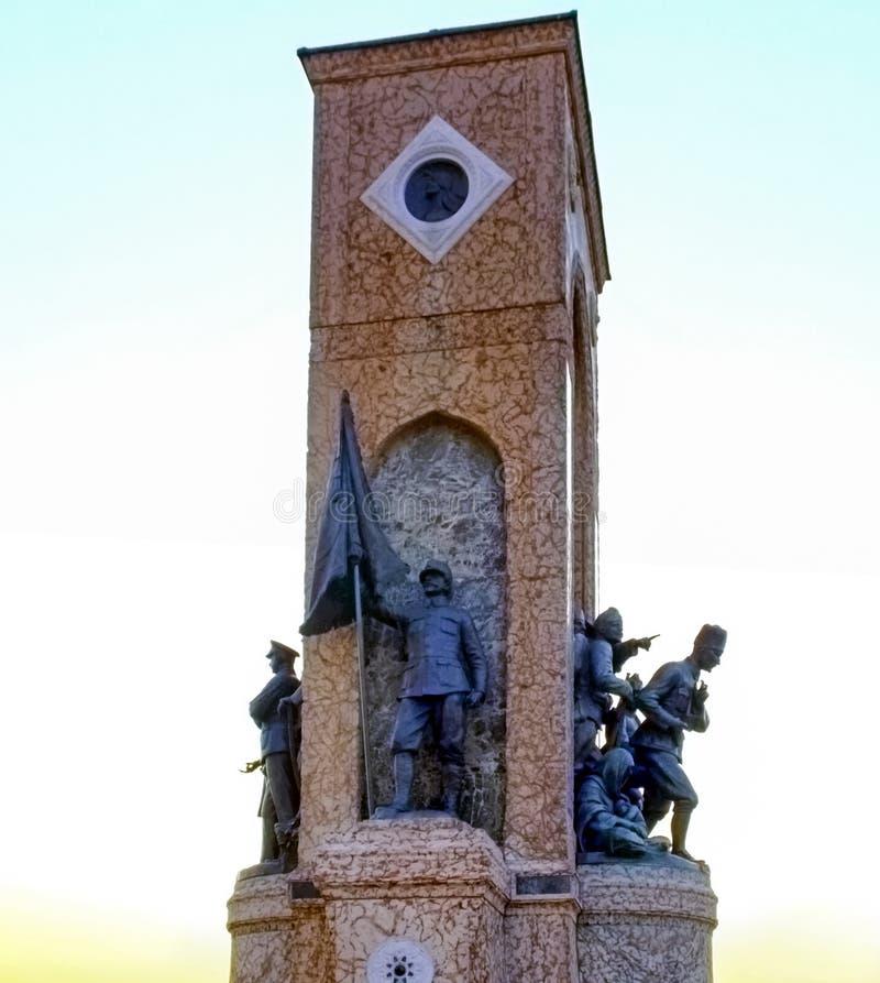 Стамбул Taksim, памятник республики стоковое изображение rf