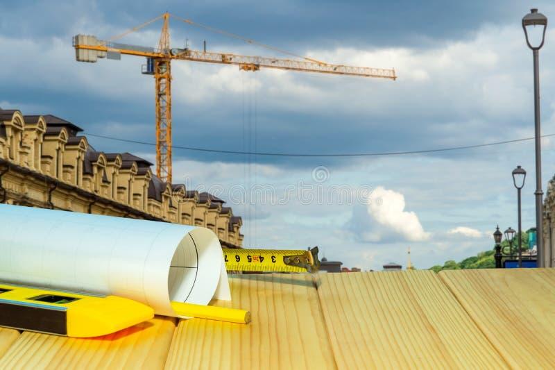 Стандартная безопасность конструкции, строя защита и инструменты стоковое фото