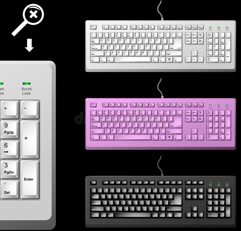 стандарт ПК клавиатуры иллюстрация штока