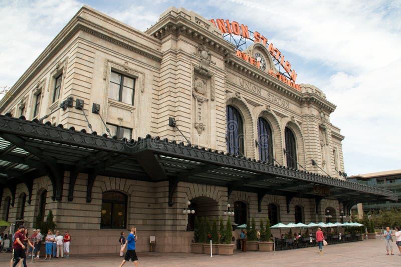Станция в городском Денвере, Колорадо соединения стоковое фото rf