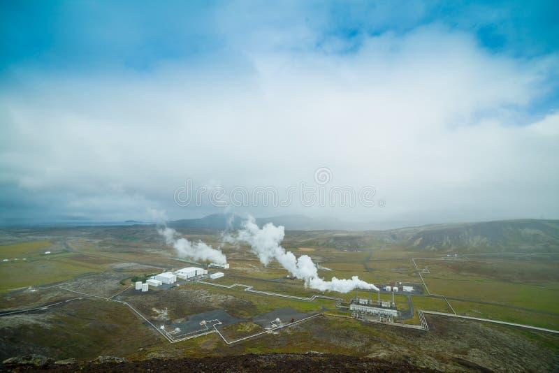 Станция геотермальной энергии стоковые фотографии rf