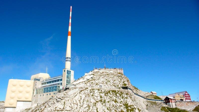 Станция горы Saentis в Швейцарии стоковые изображения rf