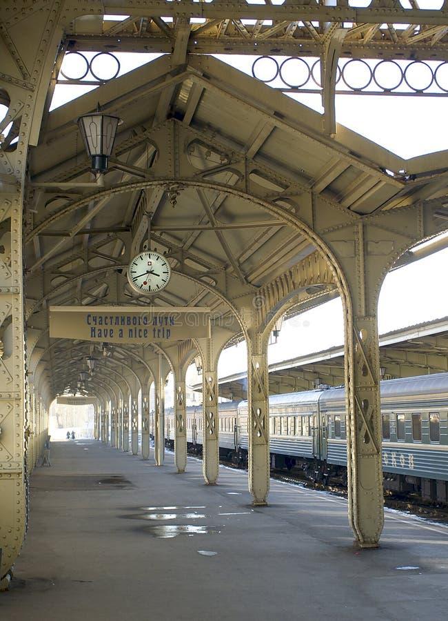 станция железной дороги 2 платформ стоковая фотография