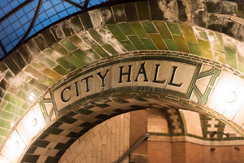 Станция здание муниципалитета - Нью-Йорк стоковые фото