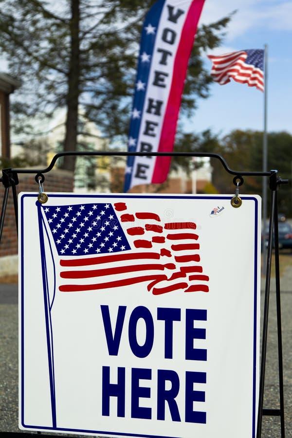 Станция избирательного пункта избрания стоковые изображения rf