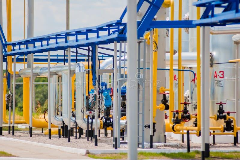 Станция компрессора газа в Украине стоковая фотография