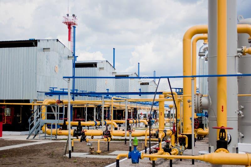 Станция компрессора газа в Украине стоковые фотографии rf
