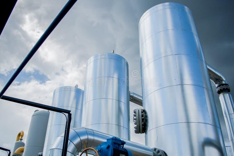 Станция компрессора газа в Украине стоковое изображение