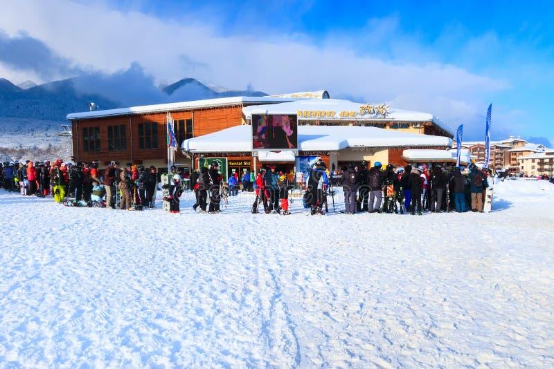 Станция лыжи Bansko, подъем фуникулера, Болгария стоковое изображение rf