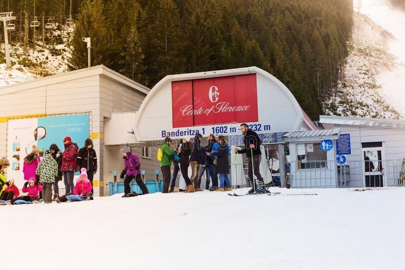 Станция лыжи Bansko, подъем фуникулера, Болгария стоковая фотография