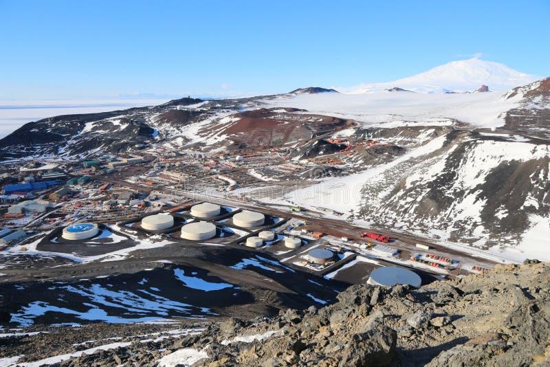 Станция МакМердо, остров Ross, Антарктика стоковые изображения rf