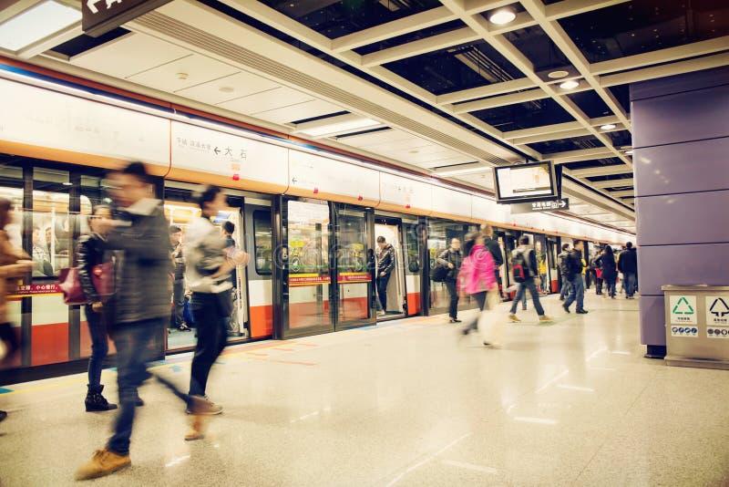 Станция метро Гуанчжоу стоковое фото