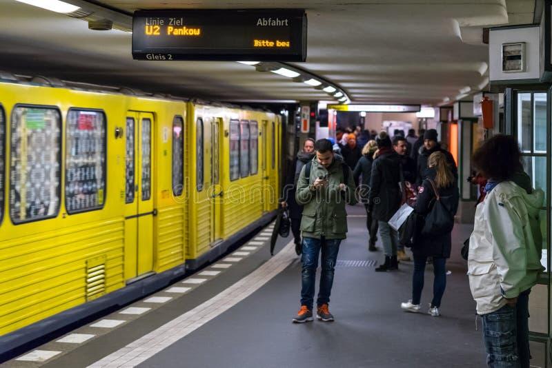 Станция метро линий U2 - Potsdamer Platz стоковое фото rf