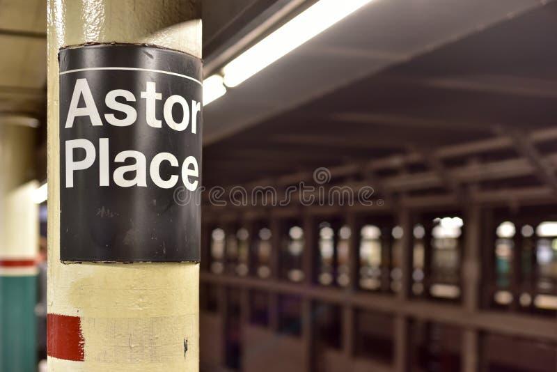 Станция метро места Astor - Нью-Йорк стоковое фото rf