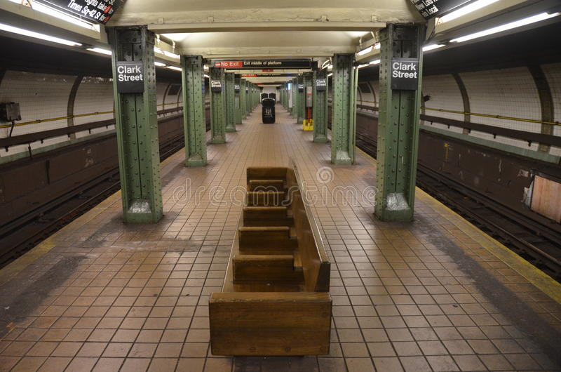 Станция метро Нью-Йорка в Бруклине, NYC стоковое фото rf