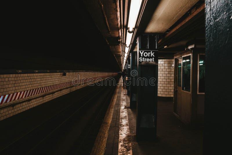 Станция метро Нью-Йорка стоковая фотография rf